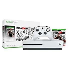 Xbox One S 1tb 4k Wifi Hdr con juego NBA 2K19 Sellada De Fabrica