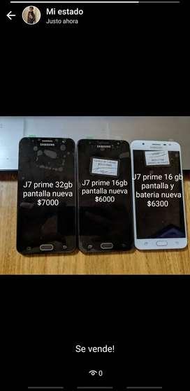Samsung J7 prime de 32gb y de 16gb