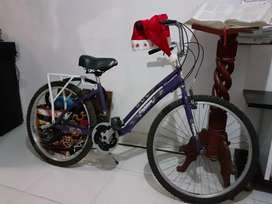 Bicicleta playera para dama con cambio