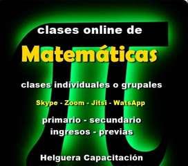 MATEMÁTICAS Clases Online por skype o zoom