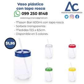 Vaso plástico con tapa rosca
