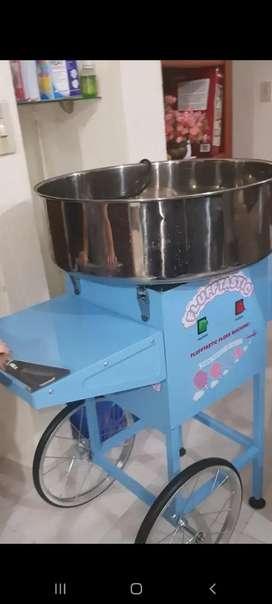 Maquina para elaborar algodón de azucar