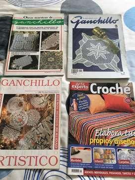19 revistas sobre crochet o ganchillo.