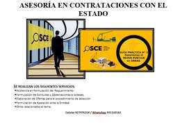 SERVICIO EN CONTRATACIONES CON EL ESTADO