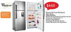 Refrigeradora, Lavadora y Secadora WHIRLPOOL