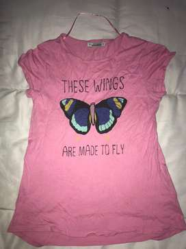Camiseta rosa para niña