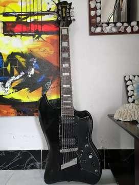 RAREZA Guitarra eléctrica 7cuerdas guild dearmond sevenstar 7 cuerdas siete