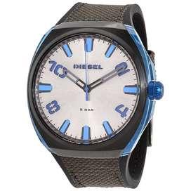 Reloj Diesel Stigg Dz1885 Azul Eléctrico Pulso Cuero Textil