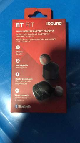 Audifonos ISOUND earbuds bluetooth wireless nuevos/ sellados