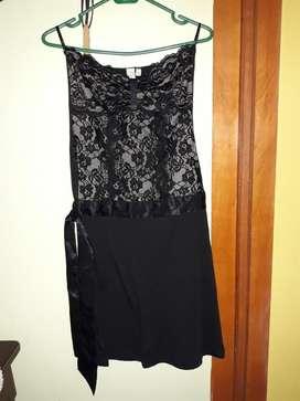 Liquido Vestido de Fiesta Color Negro