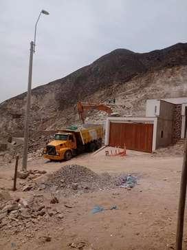 Servicio de alquiler Maquinaria volquetes retro excavadora  excavación de sótanos  eliminación de escombros relleno