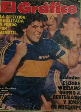 Revista El Gráfico 1983 Maradona