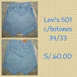 Pantalones jeans Levi's original BIEN CONSERVADOS
