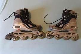 set de patinas a 4 ruedas con bolsa
