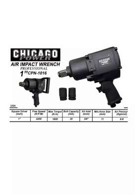 """Pistola o llave de impacto neumática de 1"""" Chicago nueva"""
