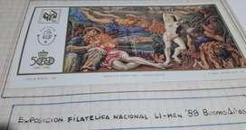 Exposición de Filatelia Nacional LI_MEN 88 Buenos Aires bloque 1492- 1992