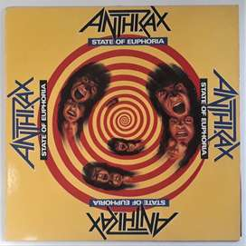 Anthrax State Of Euphoria Lp Megaforce Island Grecia 1988