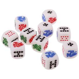 Dados De Poker Conjunto Por 10 Dados Die Poker Juego De Asar