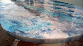 Porcelanato liquido. Aplicación en pisos y mesadas