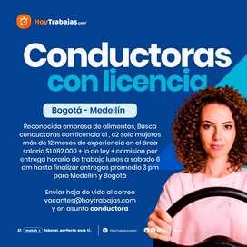 Conductoras Medellín