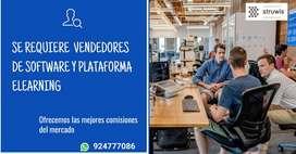 Vendedores para software y plataformas elearning