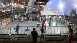 alquiler de pista de hielo y saltarines Gigantes para todo tipo de eventos y para toda Colombia