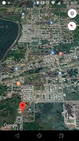 Vendo terreno de  250 m2 en Fontana Chaco