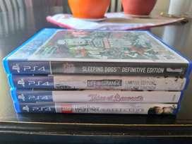 Juegos PS4 impecables