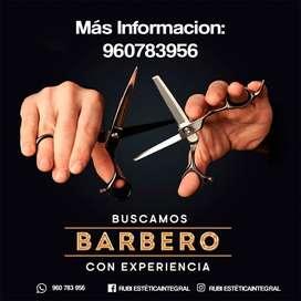 SE BUSCA BARBERO CON EXPERIENCIA