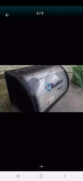 Caja calibrada para 2 sub de 8' o convertible a 12' con tubos sintonía(4 ) y frente acrílico