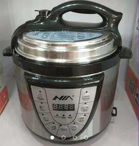 Olla eléctrica multifuncional 7 en 1 cocina, dora, vaporiza, baja y alta presión mega capacidad 4 litros