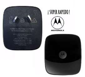 FAST POWER Cargador TURBO ORIGINAL MOTOROLA Carga Rapida Moto G6 G6 Plus G6 Play sin cable
