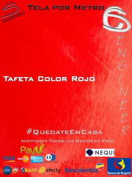 Tela Tafeta Color Rojo Por Metro