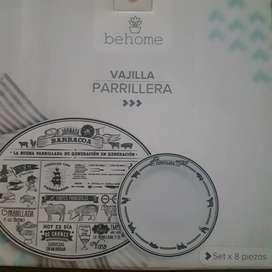 VAJILLA FINA PARRILERA VITRIFICADA
