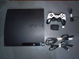 Playstation 3 slim PS3 original + 1 joystick + 10 juegos