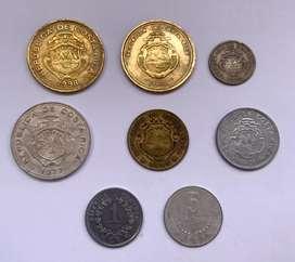 Costa Rica lote de monedas