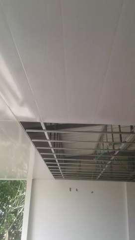 Se hace marquesinas o techos en pvc panel yeso o boar