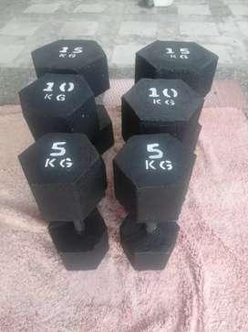Mancuernas 5 kg 10 kg y 15 kg (domicilio gratis Medellín)