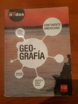 libro de secundaria  geografia  de 2 año editorial sm  proyecto nodos  continente americano