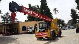 Grua marca Grove RT58, todo terreno, 4x4, 15 tn, año 1992, Motor diésel Detroit 453