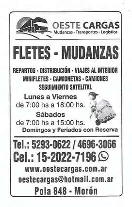 FLETES Y MUDANZAS