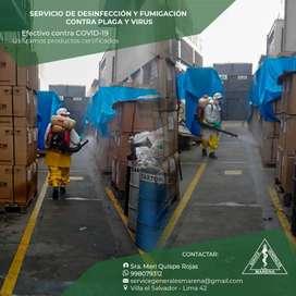 Servicio de Fumigación Integral, limpieza y desinfección