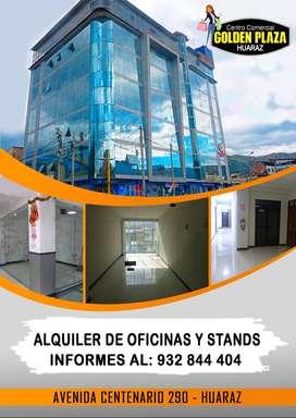 ALQUILER de LOCALES COMERCIALES y OFICINAS - HUARAZ