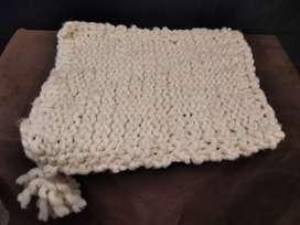 Manta de lana Newborn con pompón 60x50 Fotografia Manta Nórdica Newborn Vellón De Lana