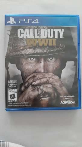 Vendo  juego Ps4 Call of Duty WWII