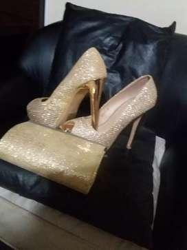 Zapato de noche con sobre