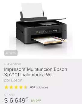VENDO IMPRESORA  EPSON XP-2101  COMO NUEVA!