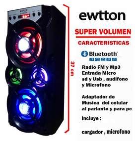 Radio Parlante portatil Bluetooth Mp3 karaoke Microfono Usb Oferta
