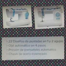 maquina de coser toyota eco 15cb 22diseños (USADA en buen estado, completa)