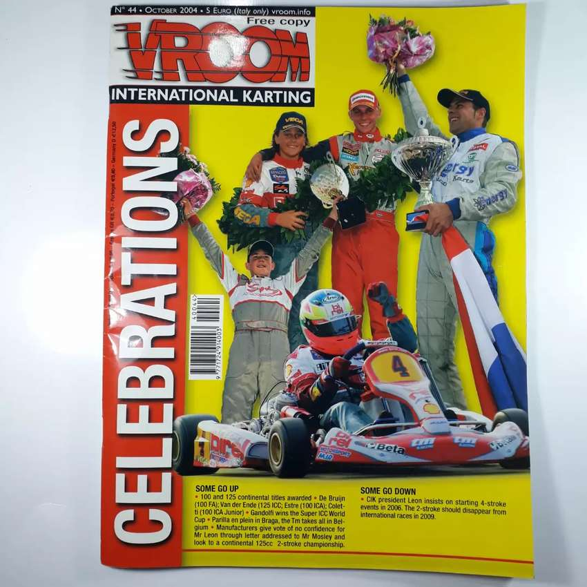Revista de karting Vroom año 2004 de italia, en ingles 0